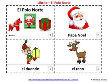 Spanish Christmas North Pole / Navidad El Polo Norte 2 Booklets
