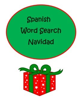 Spanish Christmas Navidad Word Search Puzzle