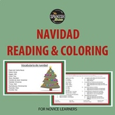 Spanish reading and coloring activity for Christmas or Navidad
