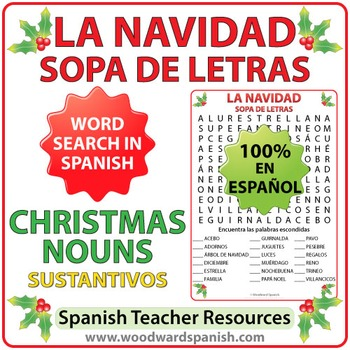 Spanish Christmas Nouns Word Search