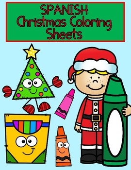 Spanish Christmas Numbers Coloring Sheets 1-10  FREEBIE