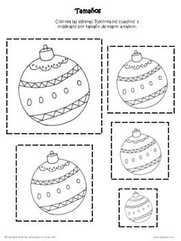 Spanish Christmas Pack Worksheets Hojas de trabajo de Navidad Invierno