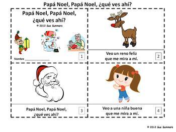 Spanish Christmas Papa Noel Que Ves Ahi 2 Emergent Readers