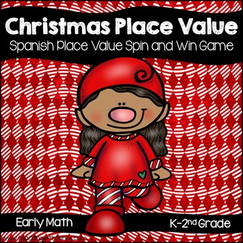Spanish: Christmas Place Value Spin and Win