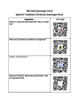 Spanish Christmas Traditions    (QR Code Scavenger Hunt)