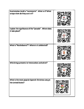 Spanish Christmas Traditions    (QR Code Scavenger Hunt)