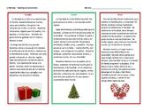 Spanish Christmas Reading Comprehension Practice