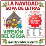 Spanish Christmas Religious Word Search