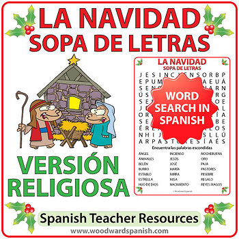 Spanish Christmas Religious Word Search