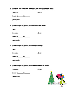 Christmas Shopping Spanish Activity: ¡Es la Navidad! ¡Vamos de compras!