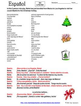Spanish Christmas Skit / Speaking Activity / Role Play