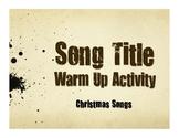 Spanish Christmas Song Titles