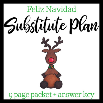 Spanish Sub Plan: Christmas