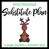 Spanish Sub Plan: Christmas