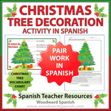 Spanish Christmas Tree Decoration Pair Work and Vocabulary