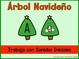 Spanish- Christmas Tree Initial Sound Match (Sonidos Iniciales)