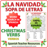 Spanish Christmas Verbs Word Search