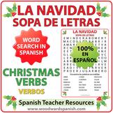 Spanish Christmas Verbs Word Search