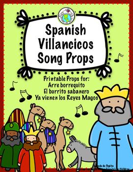 Spanish Christmas Villancicos Printable Song Props