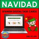 Spanish Christmas Vocabulary BOOM CARDS: NAVIDAD