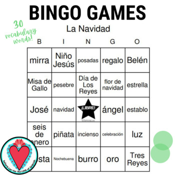 Spanish Nativity Vocabulary BUNDLE
