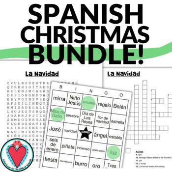 Spanish Christmas Vocabulary BUNDLE - The Nativity