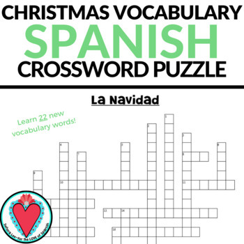 Spanish christmas vocabulary teaching resources teachers pay teachers spanish christmas vocabulary crossword puzzle the nativity m4hsunfo