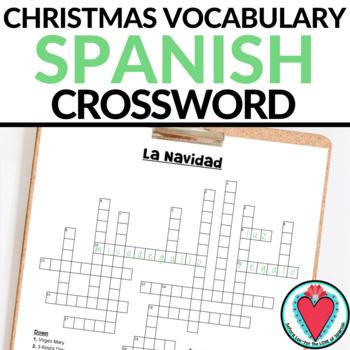 Spanish Christmas La Navidad Crossword Puzzle