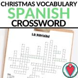 Spanish Christmas Activity - La Navidad Crossword Puzzle