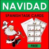 Spanish Christmas Vocabulary FREE TASK CARDS: NAVIDAD