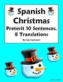 Spanish Christmas Vocabulary Preterit Sentences and Conjugations
