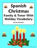 Spanish Christmas Vocabulary With Tener & Family - 10 Sentences
