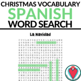 Spanish Christmas Activity - Spanish Word Search - La Navidad