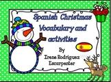 Christmas&Winter Vocabulary Activities in Spanish - Vocab de Navidad/Invierno