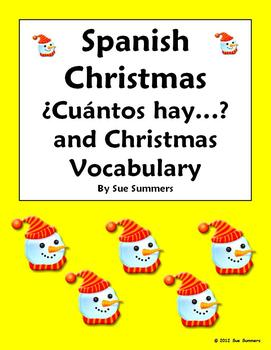 Spanish Christmas Vocabulary and Numbers - Cuantos Hay Responses