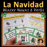 Feliz Navidad Activities Spanish Nouns and Verbs