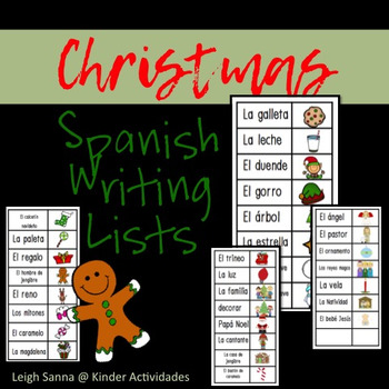 Spanish Christmas Word Lists