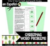 Christmas Math Activity | Spanish Word Problems | Solve an