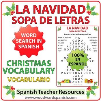 Spanish Christmas Word Search