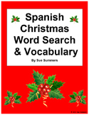 Spanish Christmas Word Search Puzzle and Vocabulary - Navidad