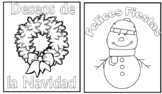 Spanish Christmas cards (10 cards to color!)