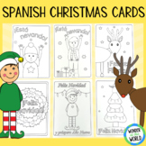 Spanish Christmas cards to print and color