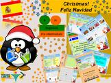 Spanish Christmas for beginners/pre intermediate bundle NO PREP