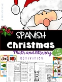 Spanish Christmas, fun activities, worksheets math and literacy/ La Navidad