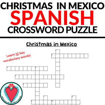 Christmas spanish crossword puzzle teaching resources teachers pay spanish christmas in mexico crossword puzzle spanish christmas in mexico crossword puzzle m4hsunfo
