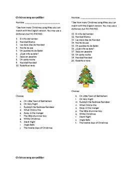 Spanish Christmas song competition