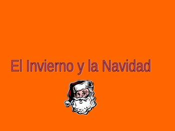 Spanish Christmas/Winter Holiday Verb Game