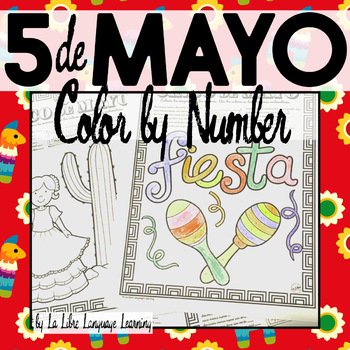 Cinco de Mayo Color by Number Free Spanish Activity Coloring Pages