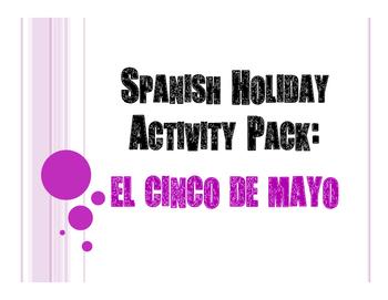 Spanish Cinco de Mayo Activity Pack