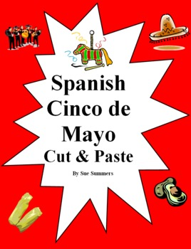 Spanish Cinco de Mayo Bilingual Cut and Paste / Game Cards